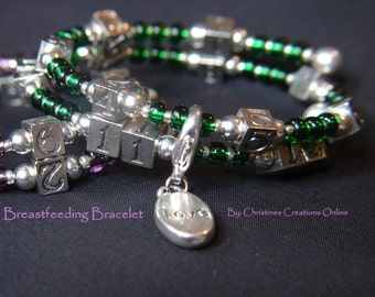 Breastfeeding Nursing Reminder Bracelet Perfect for New Mom, New Baby, Shower Gift
