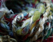 Hand Spun Recycled Yarn, Threads Remnants and Memories