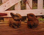 Blackened Beeswax Easter Rabbits Primitive Wax Melts Scented Beeswax Melts Grubby Beeswax Tarts Wax Tarts Primitive Easter Wax Melts