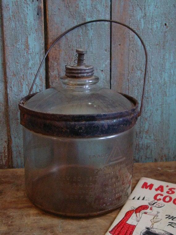 Antique 1917 Kerosene Cook Stove Glass Dripper Bottle Perfection Stove Company Cleveland Ohio