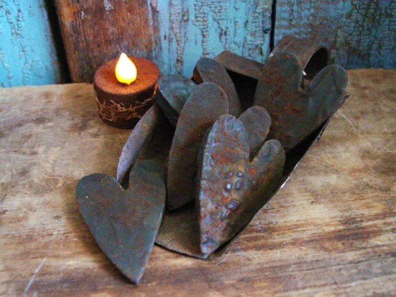 Primitive Hearts Grubby Blackened Beeswax Scented Tarts x5 Choose Your Scent