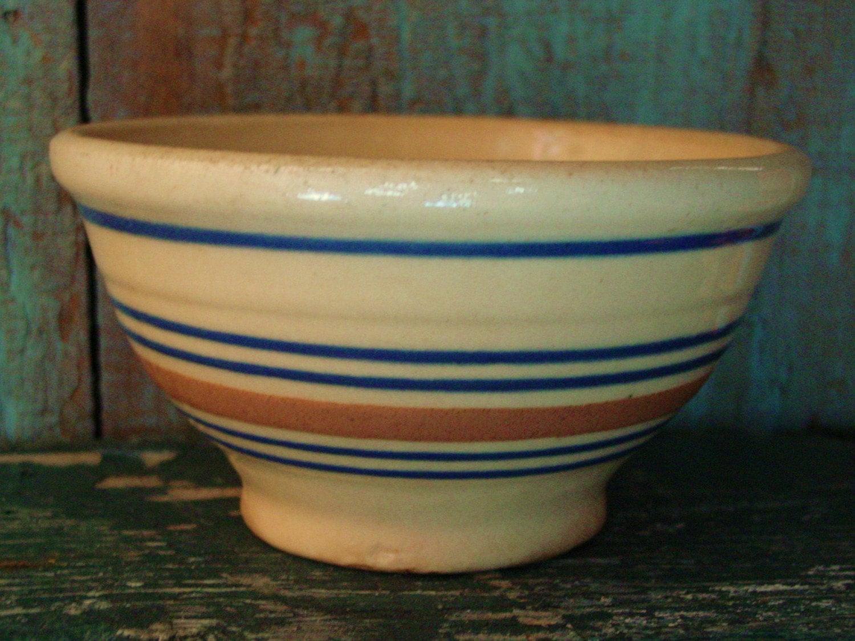 Vintage 6 Yellow Ware Bowl Farmhouse Kitchen Bowl