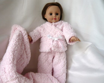 OOAK Pale Pink  Pajama Outfit Complete with Pillow / Blanket