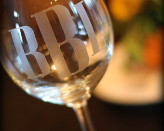 Monograms for wine glasses, mugs, and more  SET OF 6