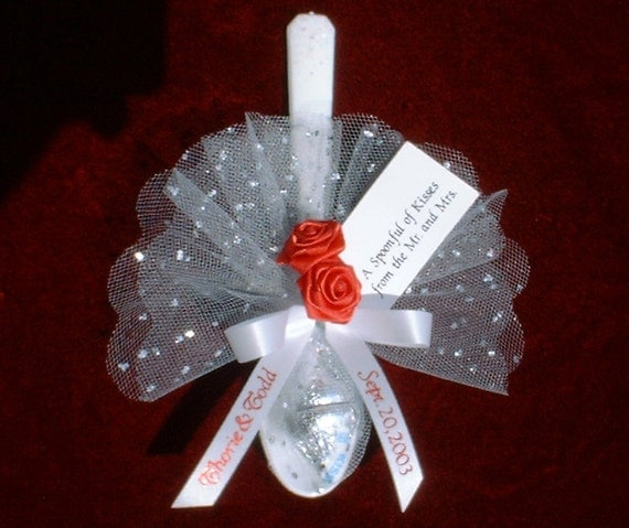 Items Similar To Personalized Favors Quot Spoonful Of Kisses