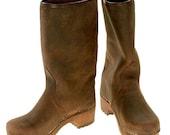 Nubuk Clog Boots