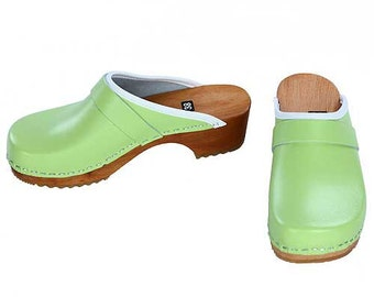 Clogs mint green