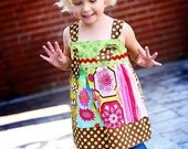 custom patchwork knot top sizes 6-12mos - 4T