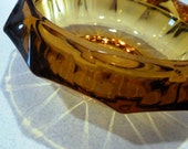 vintage amber glass bowl of the 12 triangles