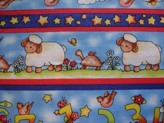 FARM Fabric In The Beginning Dianna Marcum for Marcus Brothers Fabric Rare 3/4  Yard - #CH2