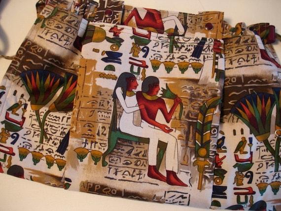 KNITTING BAG APRON - Alexander Henry Egyptian Fabric 1993 Rare