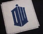 2010 Doctor Who logo /// cross-stitch pattern
