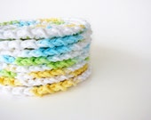 Sunny Sky Crochet Face Scrubbies Ombre Reusable Cotton Rounds Set of 8 - MADE TO ORDER, Bathroom Home