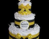 Bumble Bee 3 TIER Baby Shower Diaper Cake
