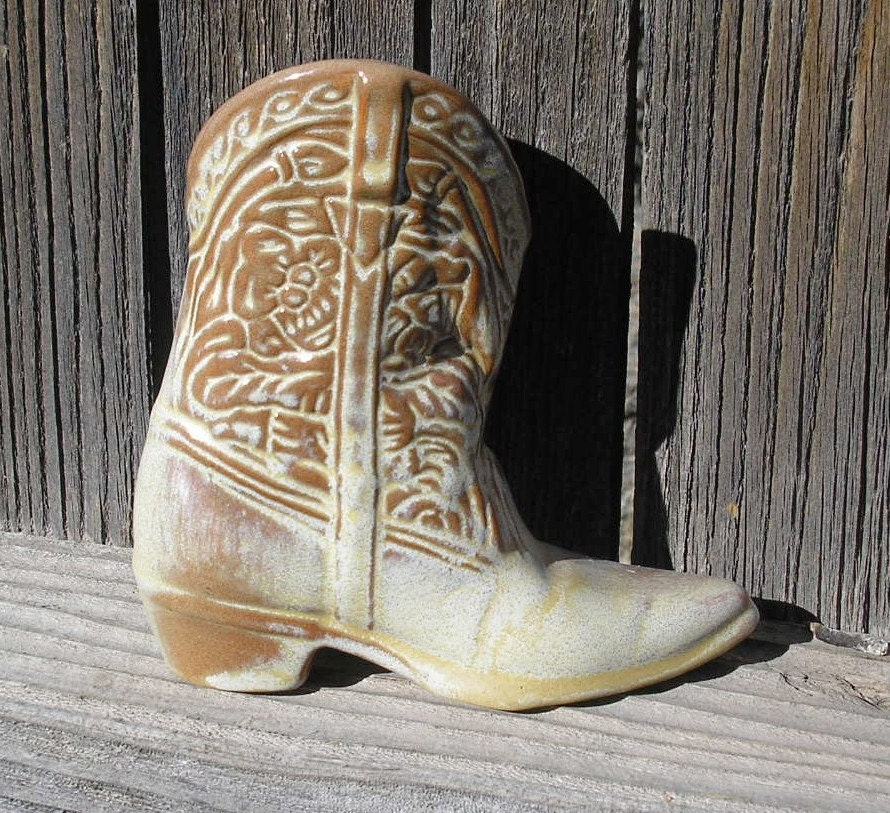 Frankoma Cowboy Boot Vase by retrostop on Etsy