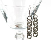 Sterling Silver Shaggy Loops Chainmail Earrings