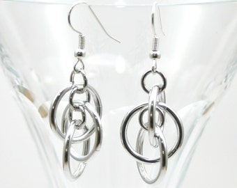 Bright Aluminum Orbital Earrings