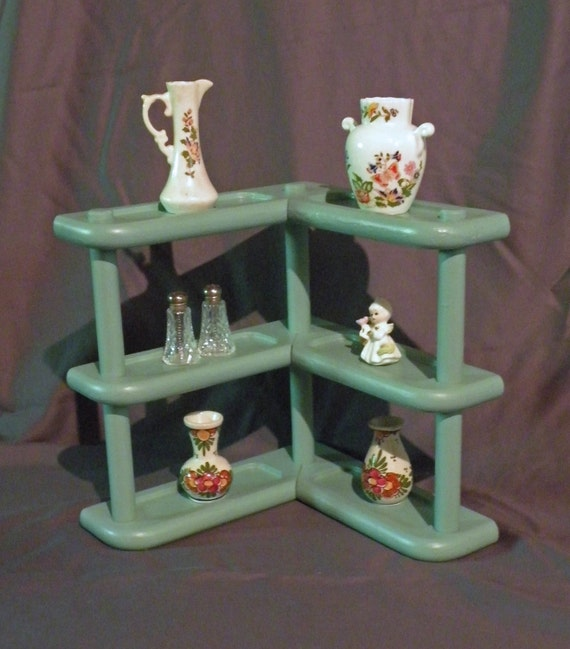 Vintage Three Tier Corner Shelf/Spice Rack