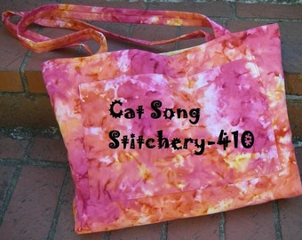 Everything Bag, market, tote, ballet, customizable pockets to suit your needs, lined, Sewing Instructions -pdf