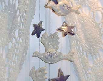 Memorial Love Hope Faith and Stars Wind Chime