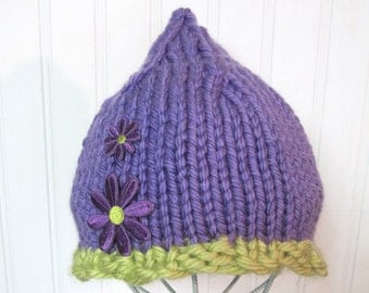 My Little Fig Hat Knitting Pattern  from Baby to Toddler to Child