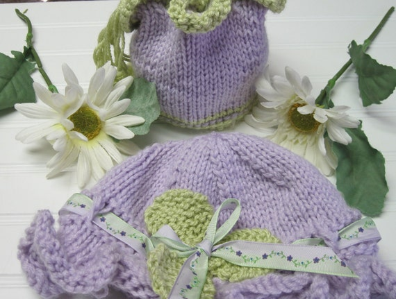 Knitting Pattern Little Girls Hat and Bag Child 3-10