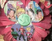 Red Archie Comic Hair Flower