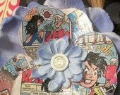 Blue Archie Comic Hair Flower