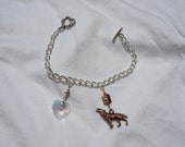 Twilight Inspired Charm Bracelet with Copper Charm