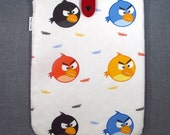 SALE 75% OFF iPad Padded Sleeve Case with Japanese Button - Birds