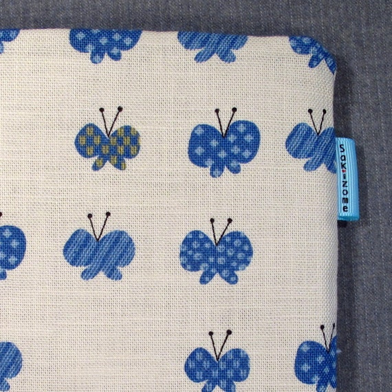 SALE 75% OFF Kindle Padded Sleeve - Blue Butterflies