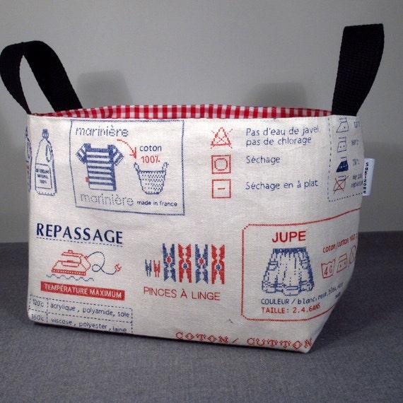 NEW - Fabric Storage Organizer Basket Bin - French Laundry