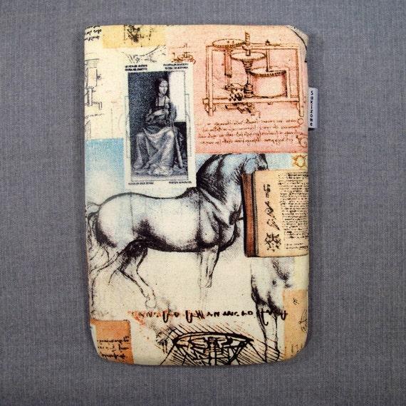 iPad Mini Kindle Nook Kobo Padded Sleeve - Da Vinci