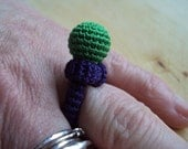 silk crocheted ring