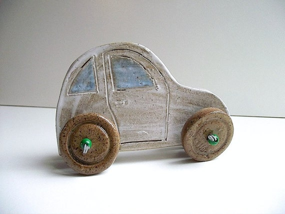 Ceramic Car on Wheels for Your Home - Home Decor