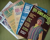 CLEARANCE SALE-Five knitting magazines 101 Sweaters Women's Day