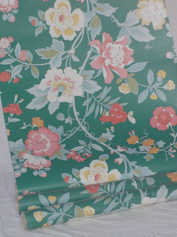 Clearance sale wallpaper vintage floral fantasy for Cheap wallpaper for sale