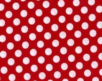 Red White Minnie Ta Dot Michael Miller Fabric 1 yard