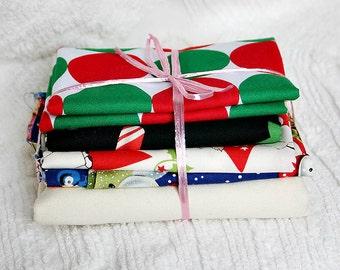 Josie Scraps Large Pack Quilt Fabric Pieces Bundled Christmas Disco Lot