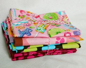 Josie Scraps Large Pack Quilt Fabric Pieces Bundled Candy Zoo Lot