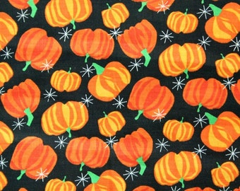 Springs Pumpkin Allover Halloween Orange Fabric 1 yd