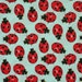 Alexander Henry Little Ladybugs Fabric 22 inches Aqua LAST