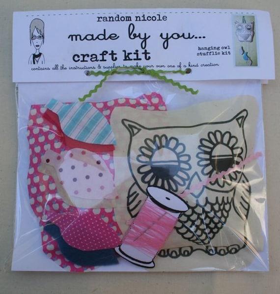Items similar to DIY craft kit hanging stuffed owl art ...