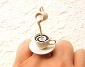 Coffee Ring Floating Miniature Food Ring Coffee With Cream - SouZouCreations
