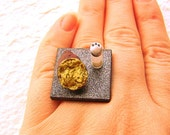 Japanese Food Ring Roasted Sweet Potato Miniature Food Jewelry Gifts Under 10 SALE