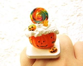 Halloween Ring Ice Cream Canady Miniature Food Kawaii Jewelry