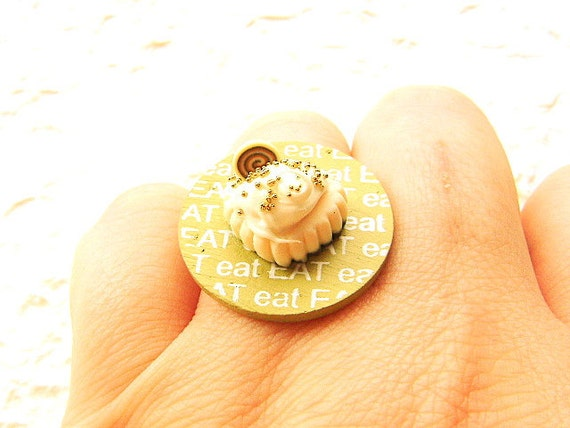 Cake Ring Miniature Food Jewelry Eat Cake SALE