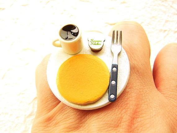 Pancake Food Ring Coffee Kawaii Cute Ring By Souzoucreations