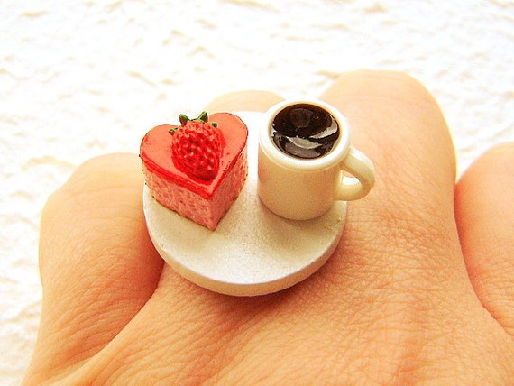 Food Jewelry Rings Kawaii Food Valentine Ring