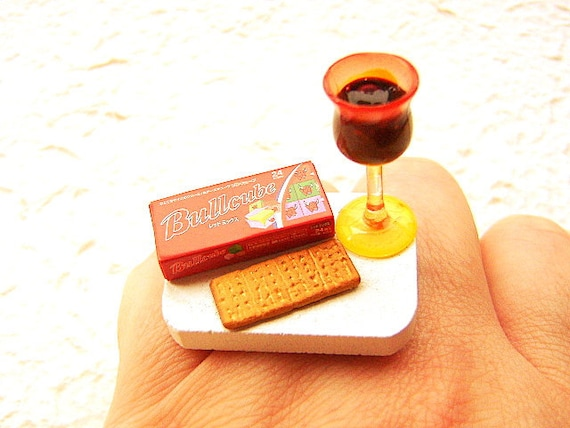 Wine Ring Cheese Cracker Miniature Food Jewelry Foodie Ring